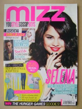 MIZZ magazine - Selena Gomez cover (30 August - 19 September 2012)
