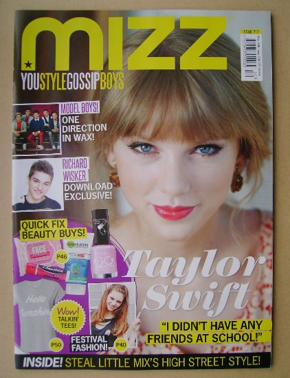 <!--2013-05-16-->MIZZ magazine - Taylor Swift cover (16 May - 12 June 2013)