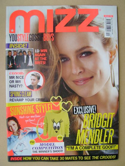 <!--2013-03-21-->MIZZ magazine - Bridgit Mendler cover (21 March - 17 April