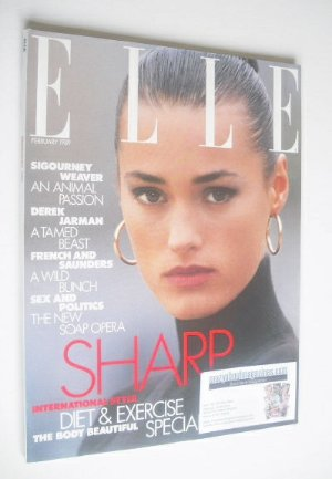 <!--1989-02-->British Elle magazine - February 1989 - Yasmin Le Bon cover