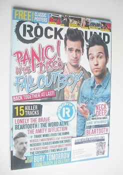 Rock Sound magazine - Panic! At The Disco and Fall Out Boy (July 2014)