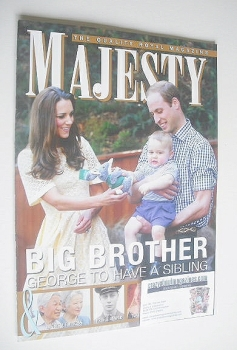 Majesty magazine - William, Kate and Prince George cover (October 2014)
