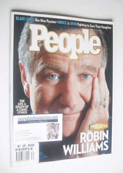 <!--2014-08-25-->People magazine - Robin Williams cover (25 August 2014)
