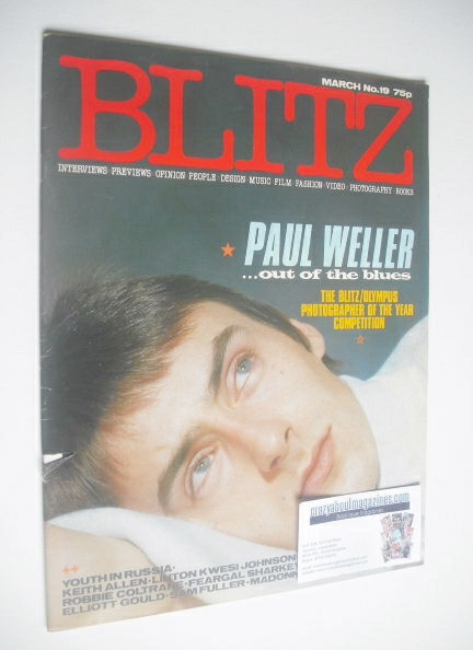 <!--1984-03-->Blitz magazine - March 1984 - Paul Weller cover (No. 19)