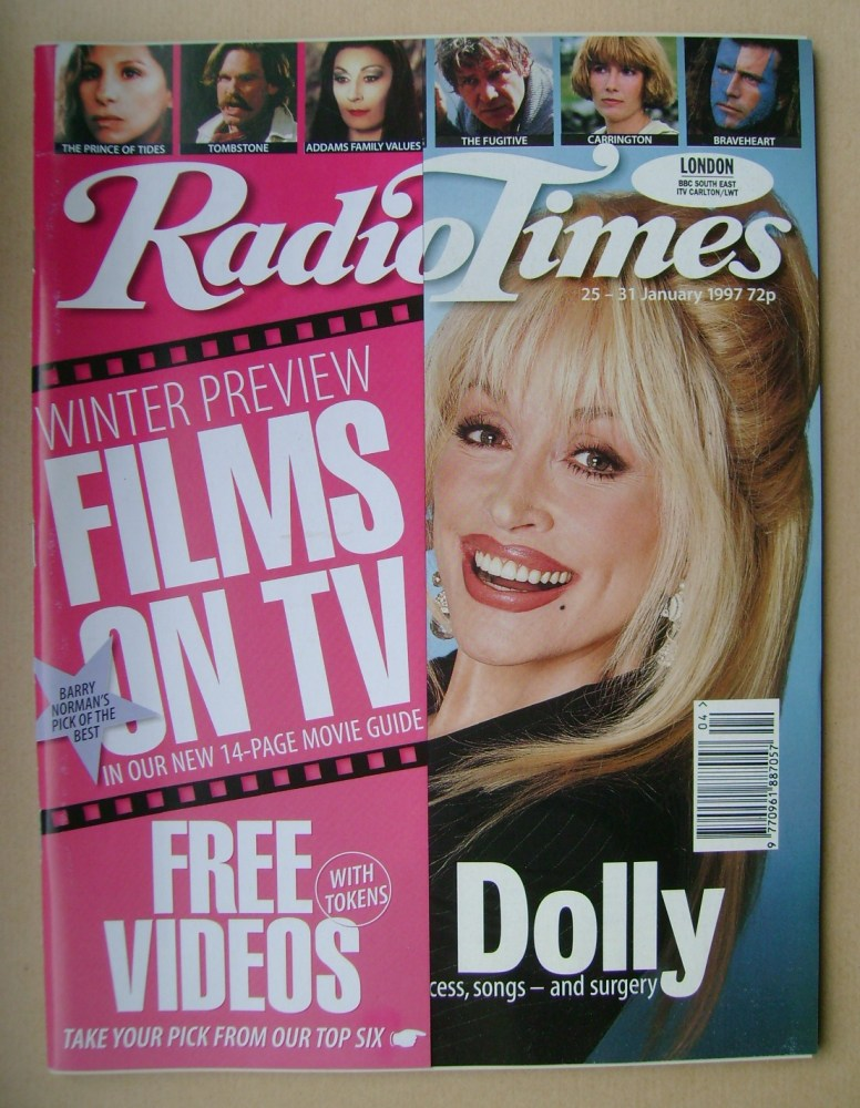 <!--1997-01-25-->Radio Times magazine - Dolly Parton cover (25-31 January 1