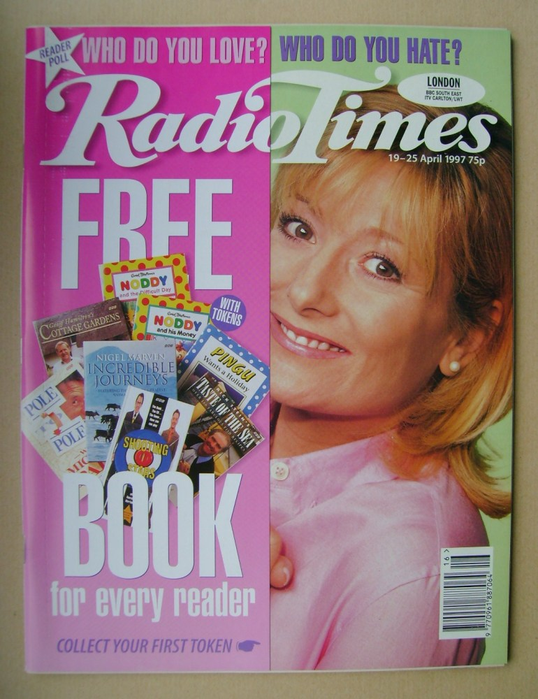 <!--1997-04-19-->Radio Times magazine - Gaby Roslin cover (19-25 April 1997