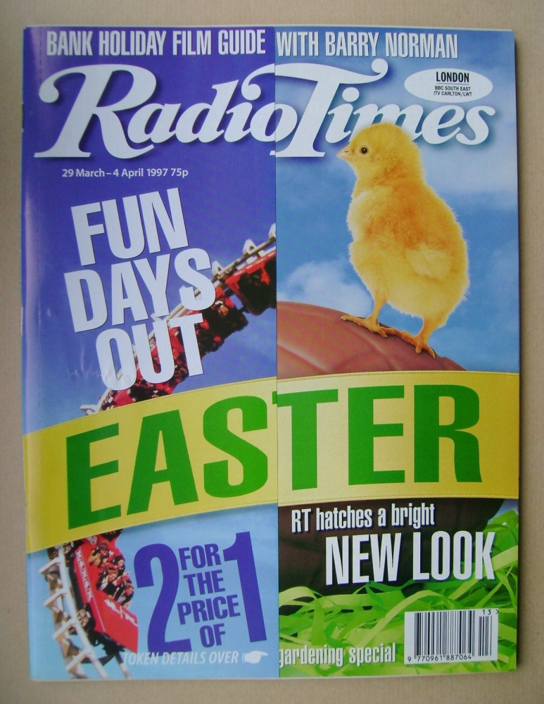 <!--1997-03-29-->Radio Times magazine - Easter cover (29 March - 4 April 19