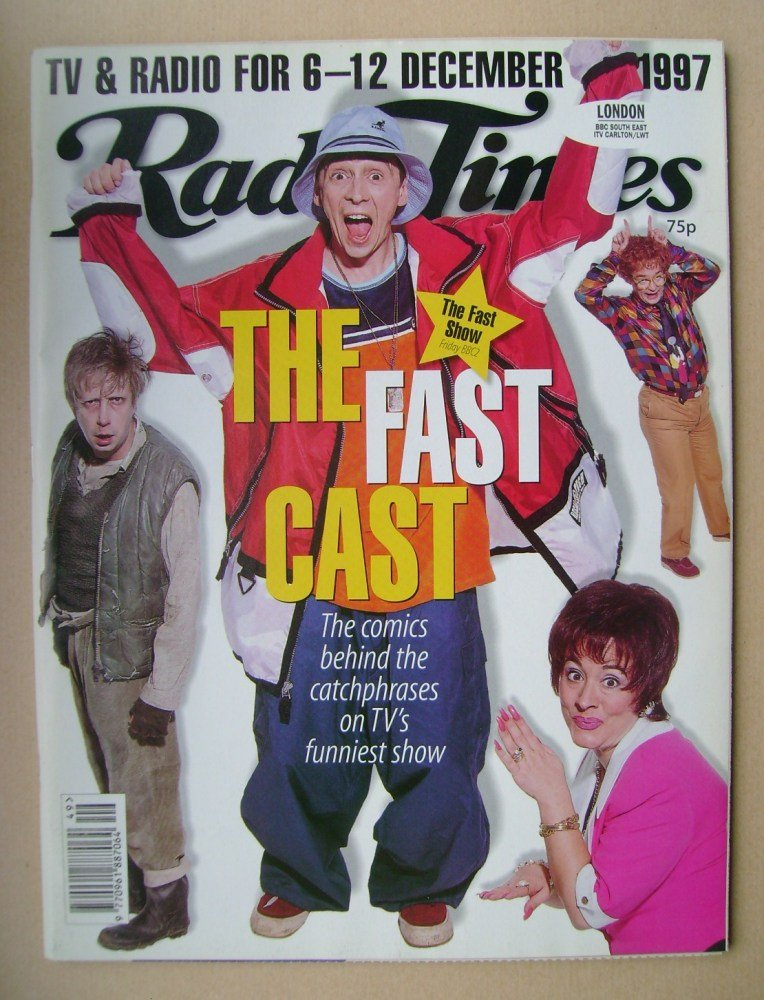 <!--1997-12-06-->Radio Times magazine - The Fast Cast cover (6-12 December
