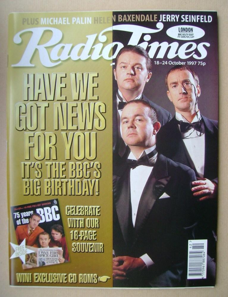 <!--1997-10-18-->Radio Times magazine - Paul Merton, Ian Hislop, Angus Deay