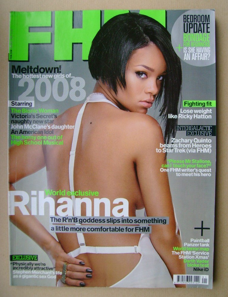 <!--2008-01-->FHM magazine - Rihanna cover (January 2008)