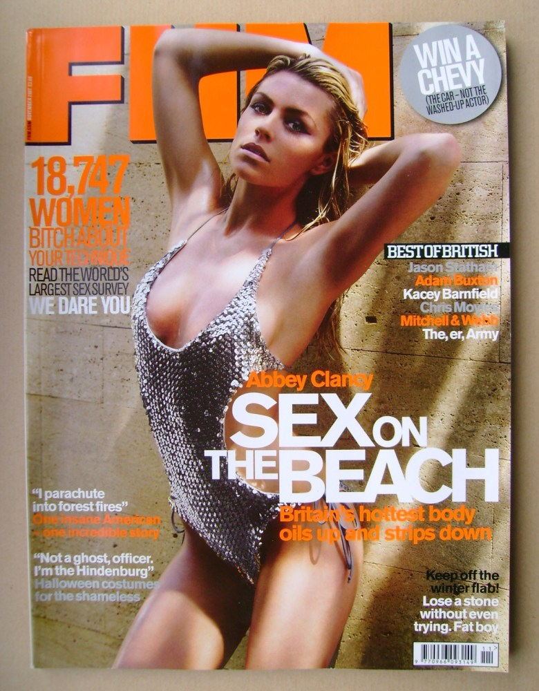 <!--2007-11-->FHM magazine - Abbey Clancy cover (November 2007)