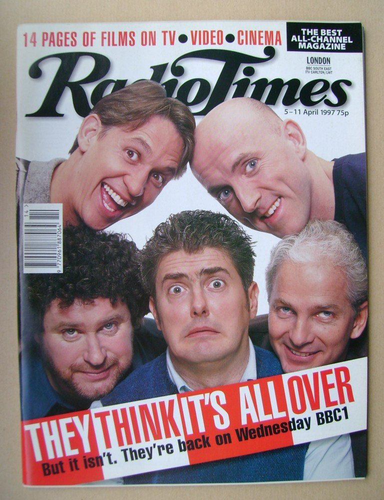 <!--1997-04-05-->Radio Times magazine - They Think It's All Over cover (5-1