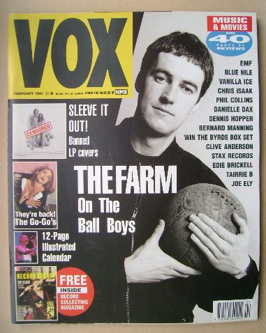 <!--1991-02-->VOX magazine - Peter Hooton cover (February 1991 - Issue 5)