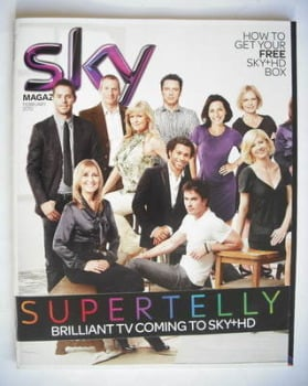 Sky TV magazine - February 2010 - Supertelly cover