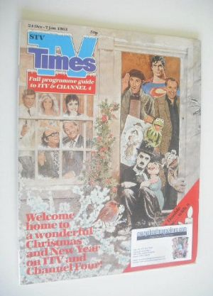 <!--1982-12-24-->TV Times magazine - Christmas Issue (24 December 1982 - 7