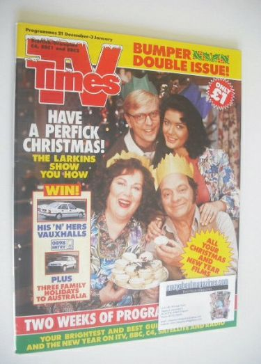 <!--1991-12-21-->TV Times magazine - Have A Perfick Christmas cover (21 Dec