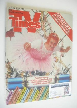 <!--1984-12-22-->TV Times magazine - Russ Abbot cover (22 December 1984 - 4