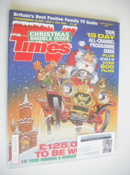 <!--1993-12-18-->TV Times magazine - Christmas Issue (18 December 1993 - 1