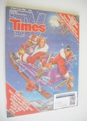<!--1985-12-21-->TV Times magazine - Christmas Issue (21 December 1985 - 3