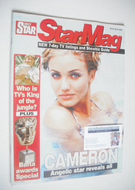Daily Star magazine - Cameron Diaz cover (20-26 April 2002)