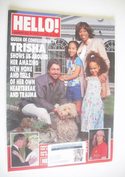 <!--2000-06-13-->Hello! magazine - Trisha Goddard cover (13 June 2000 - Iss