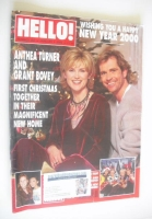 <!--2000-01-04-->Hello! magazine - Anthea Turner and Grant Bovey cover (4 January 2000 - Issue 592)