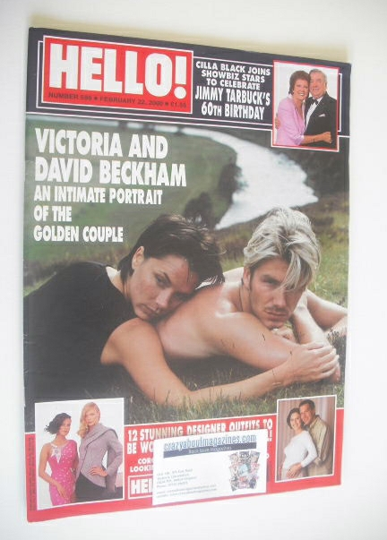 <!--2000-02-22-->Hello! magazine - David Beckham and Victoria Beckham cover