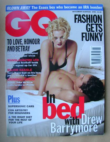 <!--1995-04-->British GQ magazine - April 1995 - Drew Barrymore cover