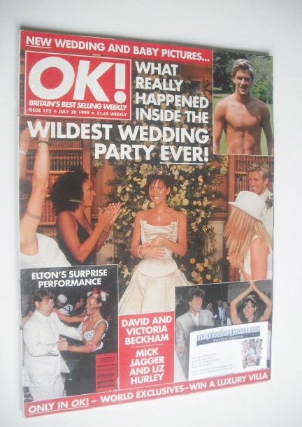 <!--1999-07-30-->OK! magazine - Victoria Beckham cover (30 July 1999 - Issu