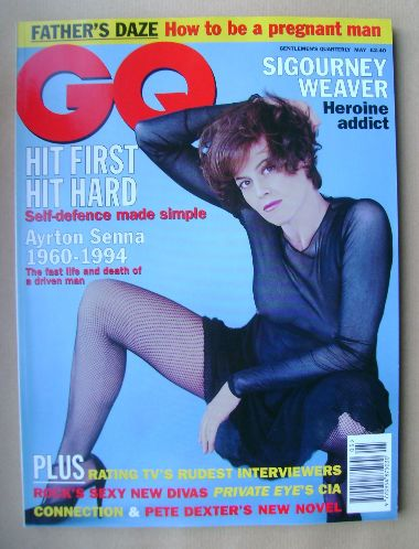 <!--1995-05-->British GQ magazine - May 1995 - Sigourney Weaver cover