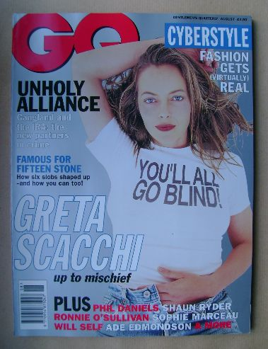 <!--1995-08-->British GQ magazine - August 1995 - Greta Scacchi cover