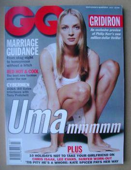 British GQ magazine - July 1995 - Uma Thurman cover