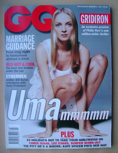 <!--1995-07-->British GQ magazine - July 1995 - Uma Thurman cover