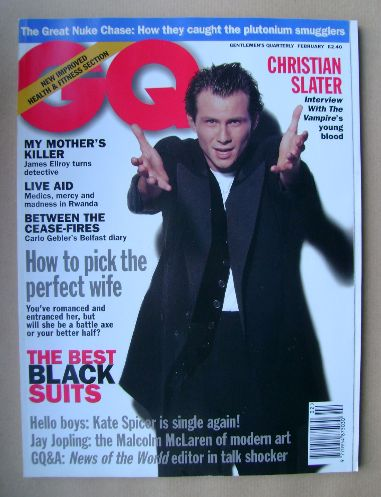 <!--1995-02-->British GQ magazine - February 1995 - Christian Slater cover