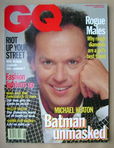 <!--1992-08-->British GQ magazine - August 1992 - Michael Keaton cover