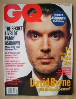 <!--1992-04-->British GQ magazine - April 1992 - David Byrne cover