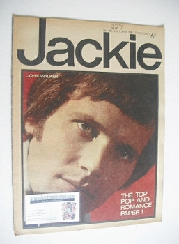 Jackie magazine - 22 July 1967 (Issue 185 - John Walker cover)