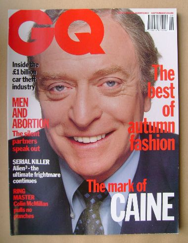 <!--1992-09-->British GQ magazine - September 1992 - Michael Caine cover