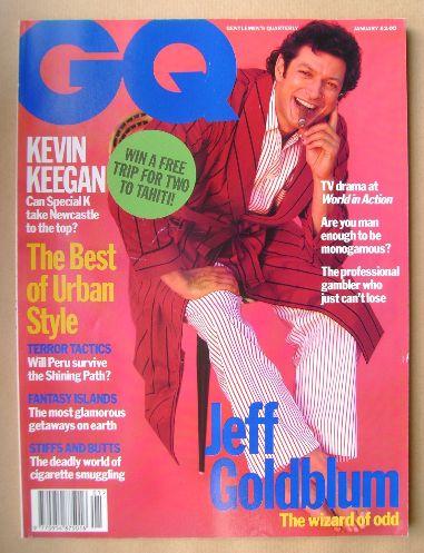<!--1993-01-->British GQ magazine - January 1993 - Jeff Goldblum cover