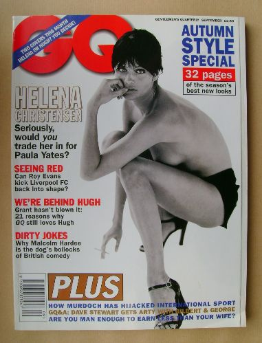 <!--1995-09-->British GQ magazine - September 1995 - Helena Christensen cov