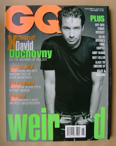 <!--1996-11-->British GQ magazine - November 1996 - David Duchovny cover