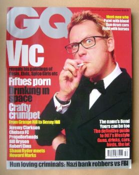 British GQ magazine - December 1997 - Vic Reeves cover