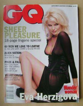 British GQ magazine - December 1995 - Eva Herzigova cover
