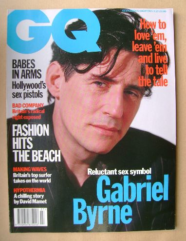 <!--1993-07-->British GQ magazine - July 1993 - Gabriel Byrne cover