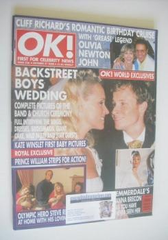 OK! magazine - Brian Littrell wedding cover (27 October 2000 - Issue 236)