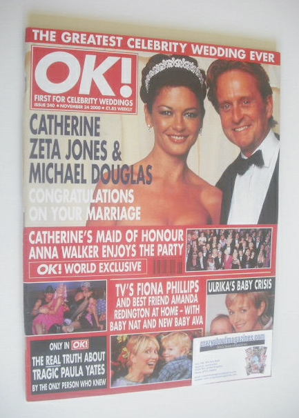 <!--2000-11-24-->OK! magazine - Michael Douglas and Catherine Zeta Jones co