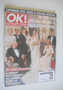 OK! magazine - Michael Douglas and Catherine Zeta Jones wedding cover (1 December 2000 - Issue 241)