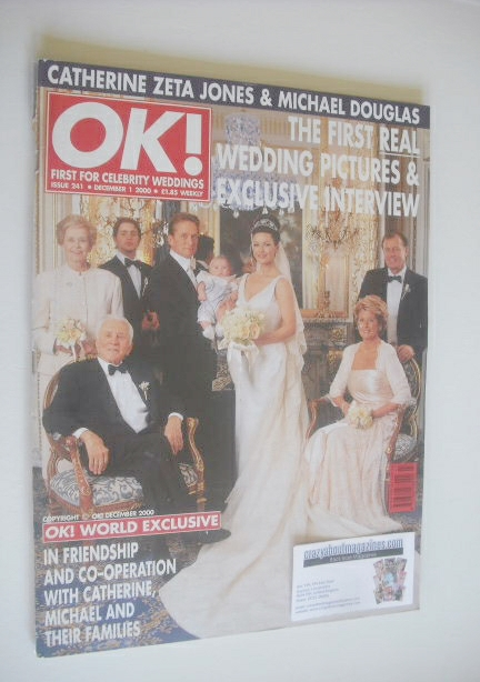 <!--2000-12-01-->OK! magazine - Michael Douglas and Catherine Zeta Jones we