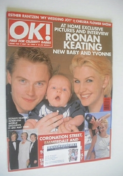 OK! magazine - Ronan Keating and baby cover (28 May 1999 - Issue 163)