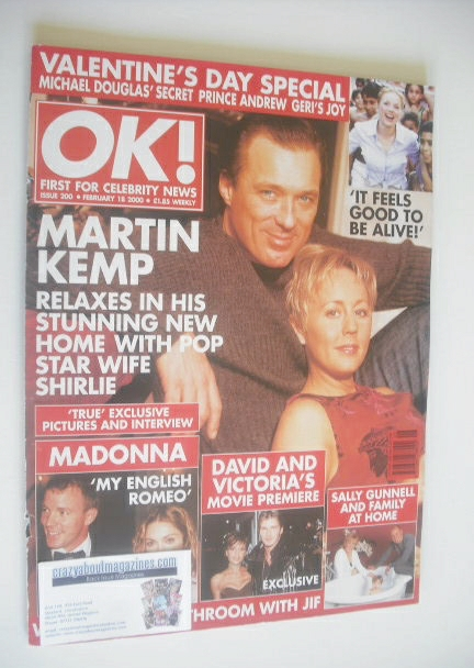 <!--2000-02-18-->OK! magazine - Martin Kemp and Shirley Kemp cover (18 Febr